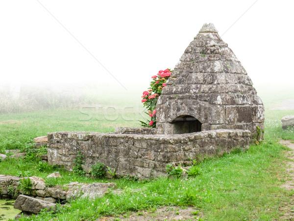 historic fountain house Stock photo © prill
