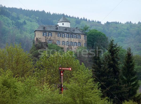 castle in the Vulkan Eifel Stock photo © prill