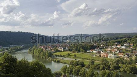 aerial view around Wertheim Stock photo © prill
