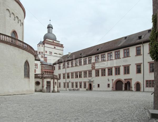 Fortaleza castillo construcción pared torre medieval Foto stock © prill