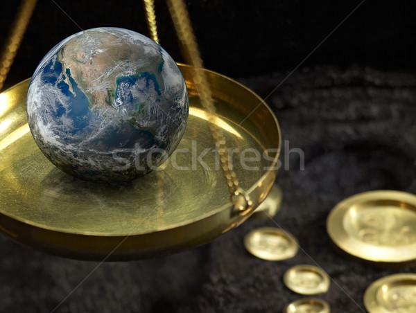 scales and globe Stock photo © prill