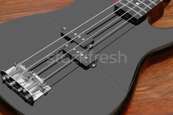 черный бас гитаре подробность коричневый Сток-фото © prill