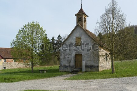 Idyllique faible chapelle paisible sud Allemagne Photo stock © prill