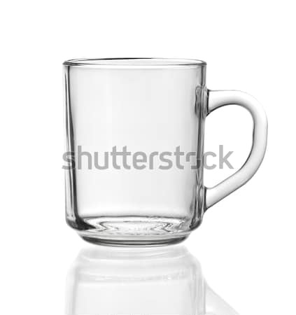 şeffaf çay fincanı cam temizlemek zemin Stok fotoğraf © prill
