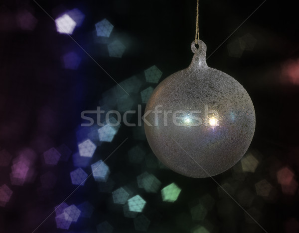 Natale gingillo multicolore indietro vetro Foto d'archivio © prill
