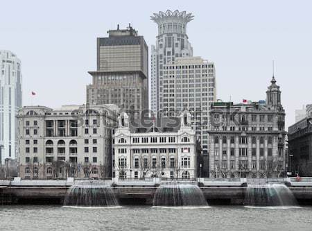 The Bund in Shanghai Stock photo © prill