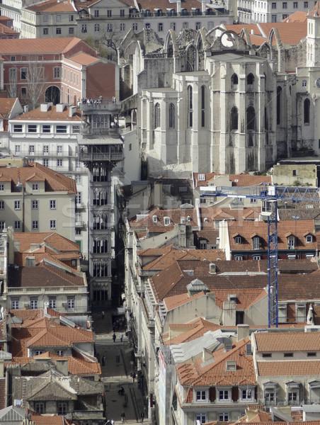 Lissabon stad Portugal huis straat Stockfoto © prill