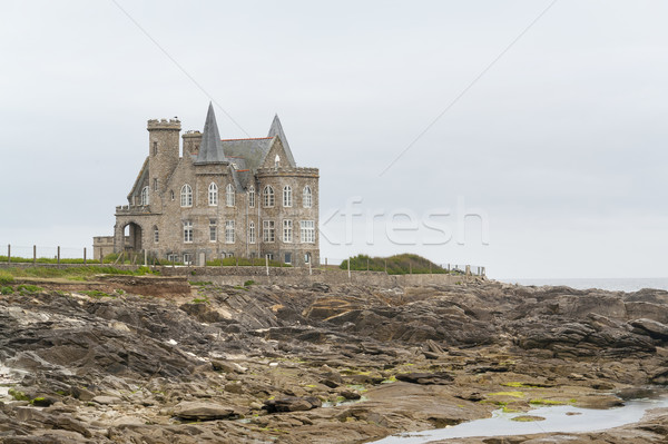 Turpault castle in Brittany Stock photo © prill