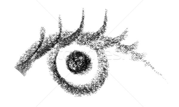 eye sketch Stock photo © prill
