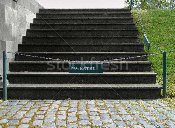 closed stairway Stock photo © prill