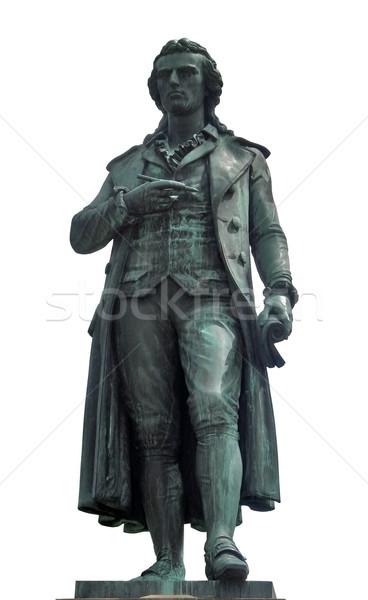 statue of Friedrich Schiller in white back Stock photo © prill