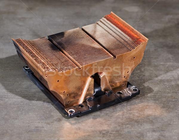 Hő mosdókagyló processzor hűtés alkotóelem fémes Stock fotó © prill