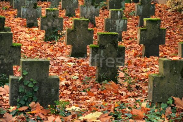 autumn graveyard Stock photo © prill
