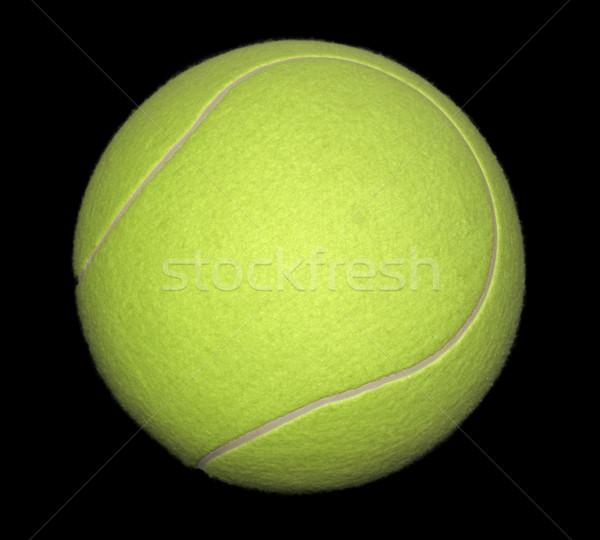 теннисный мяч желтый черный назад луна спортивных Сток-фото © prill