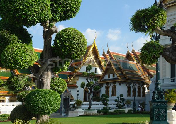 Saray Bangkok Tayland Bina bahçe seyahat Stok fotoğraf © prill