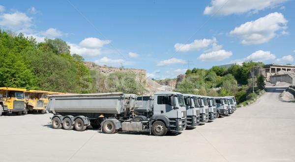 trucks in a quarry Stock photo © prill