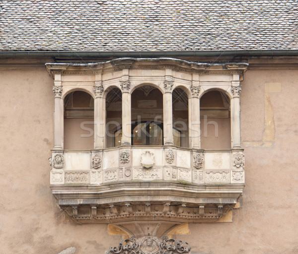 歴史的 バルコニー 家 文化 彫刻 図 ストックフォト © prill