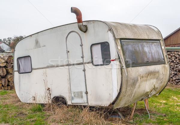 rundown old caravan Stock photo © prill