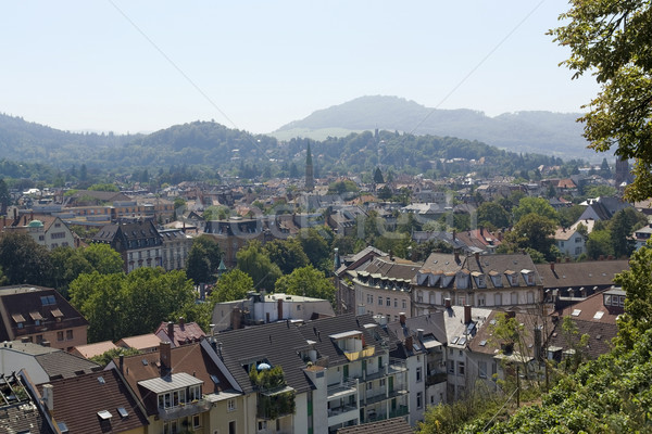 aerial view of Freiburg im Breisgau in sunny ambiance Stock photo © prill