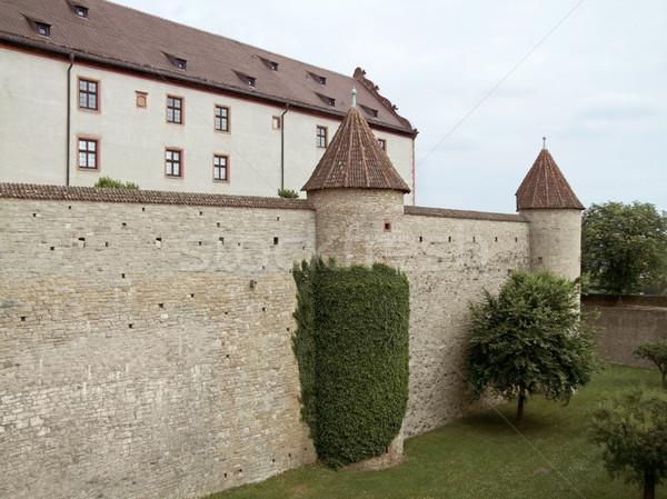 крепость замок стены архитектура башни средневековых Сток-фото © prill