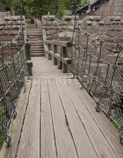 átjáró kastély történelmi fa fal híd Stock fotó © prill