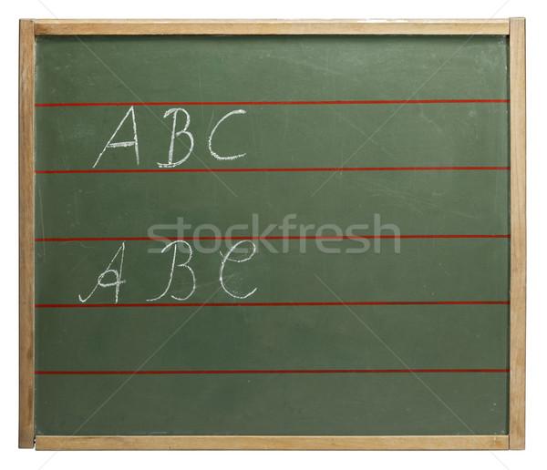 ABC blackboard Stock photo © prill