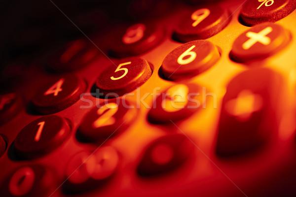 Stock photo: illuminated numerical pad detail