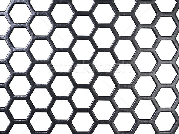 Noir grille blanche Retour full frame texture Photo stock © prill