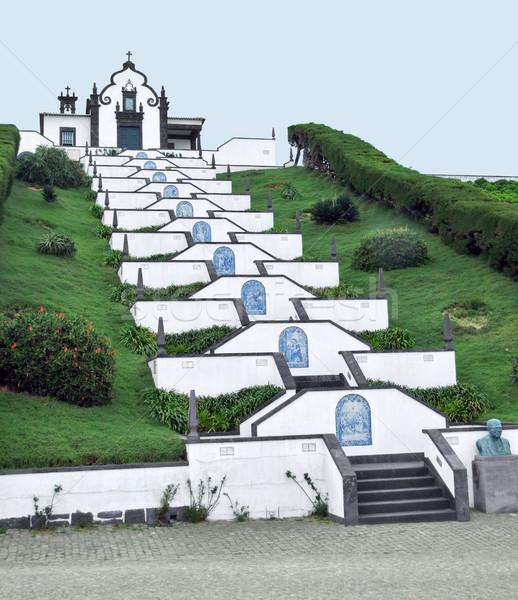 church at Sao Miguel Island Stock photo © prill
