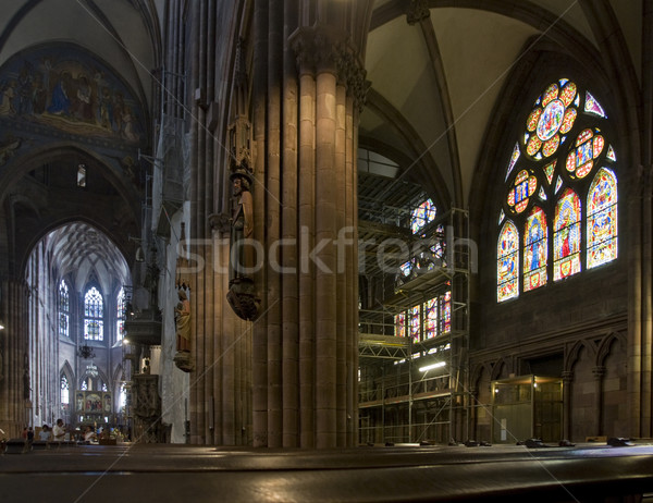 inside the minster of Freiburg im Breisgau Stock photo © prill