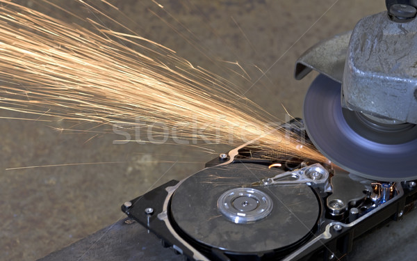hard disk grinding Stock photo © prill