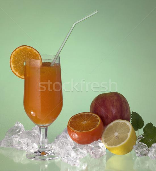 üveg gyümölcslé stúdió fotózás mutat iszik Stock fotó © prill