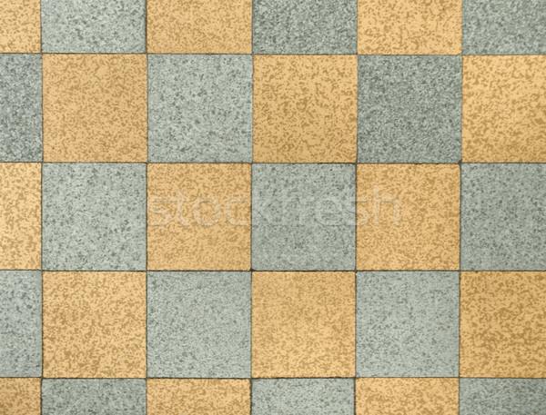 геометрический каменные шаблон старые полу плитки Сток-фото © prill