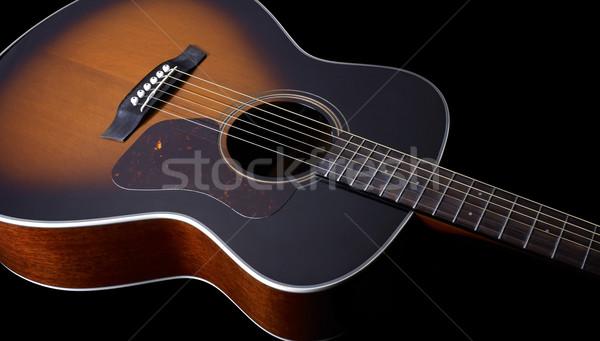 Acoustic Guitar detail Stock photo © prill