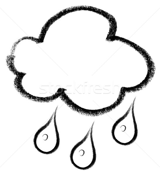 rainy cloud icon Stock photo © prill