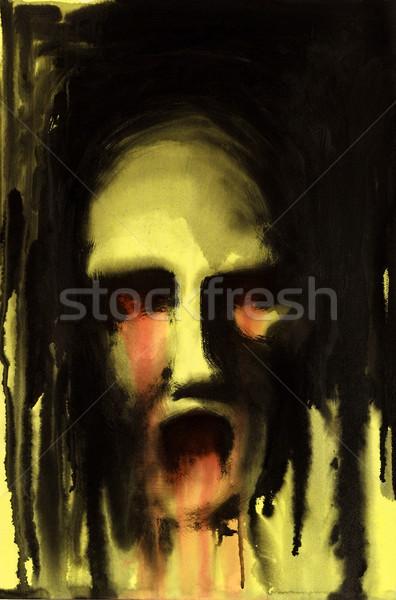 Orribile faccia pittura me giallo Foto d'archivio © prill