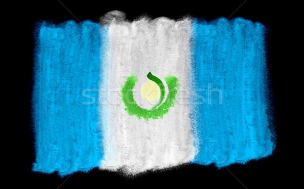 Гватемала флаг иллюстрация акварель фон искусства Сток-фото © prill
