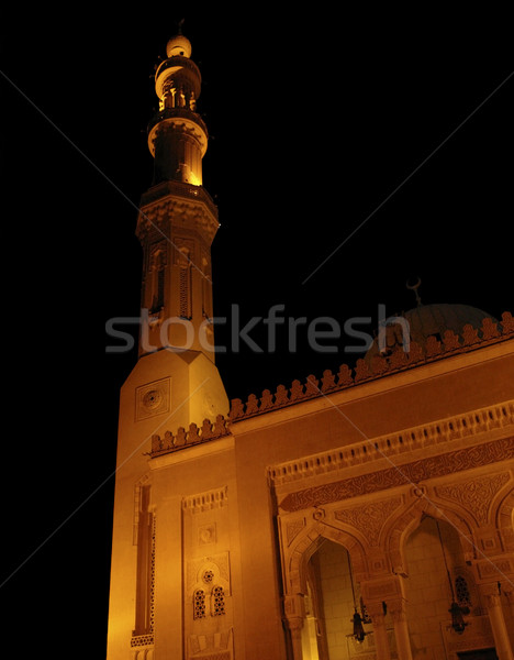 mosque at night in Aswan Stock photo © prill