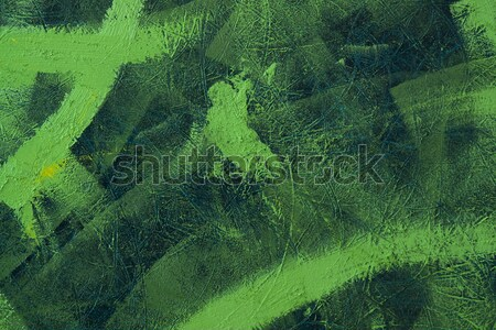 painted green brush strokes Stock photo © prill