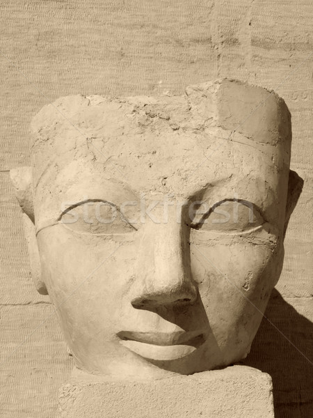 ancient face of Hatschepsut Stock photo © prill