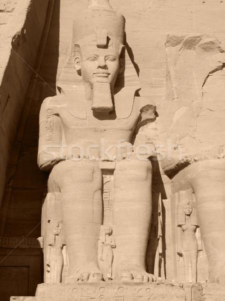 Ramses 2nd in Abu Simbel Stock photo © prill
