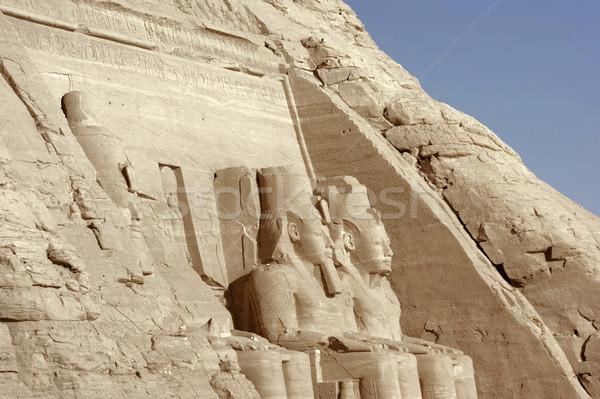 Részlet építészeti részlet történelmi Egyiptom Afrika ősi Stock fotó © prill