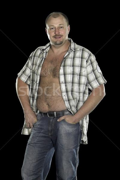 man posing with open shirt Stock photo © prill