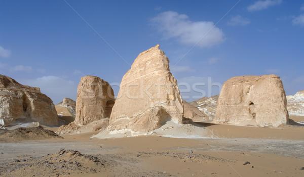 Stok fotoğraf: Mısır · beyaz · çöl · kaya · oluşumu · doğa · manzara