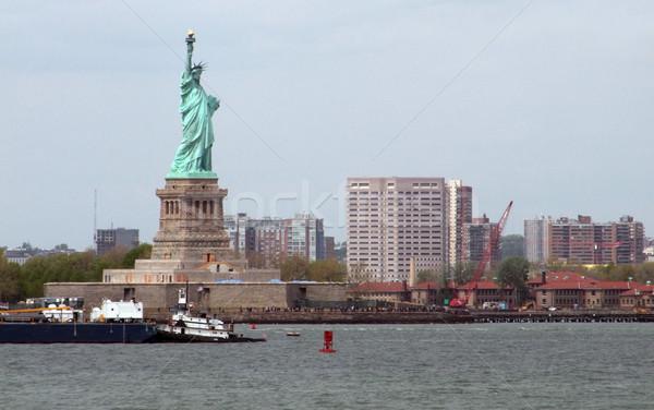 статуя свободы острове Нью-Йорк порт зеленый Сток-фото © prill