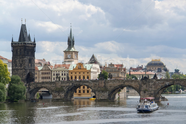 Praga impressão cidade República Checa casa Foto stock © prill