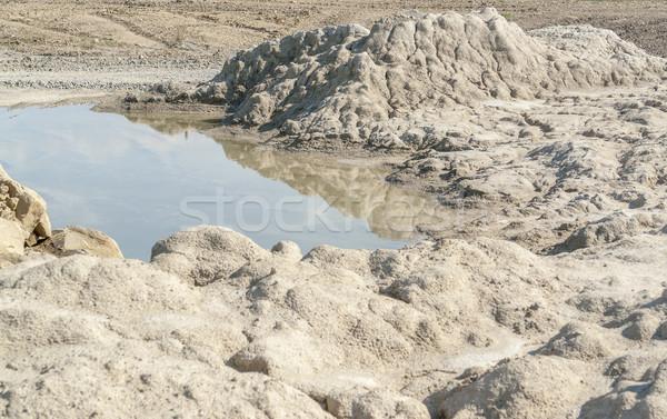 Lagoa pedras pequeno pedra água terra Foto stock © prill