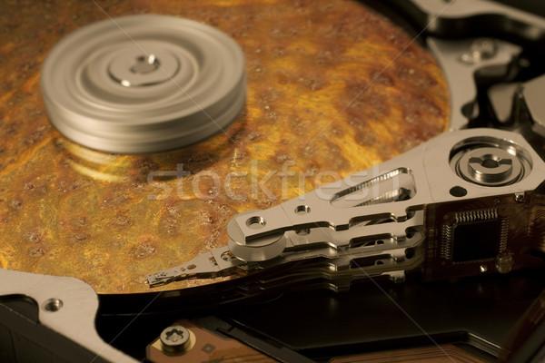 Symbolisch gegevens corrosie redding tonen Stockfoto © prill