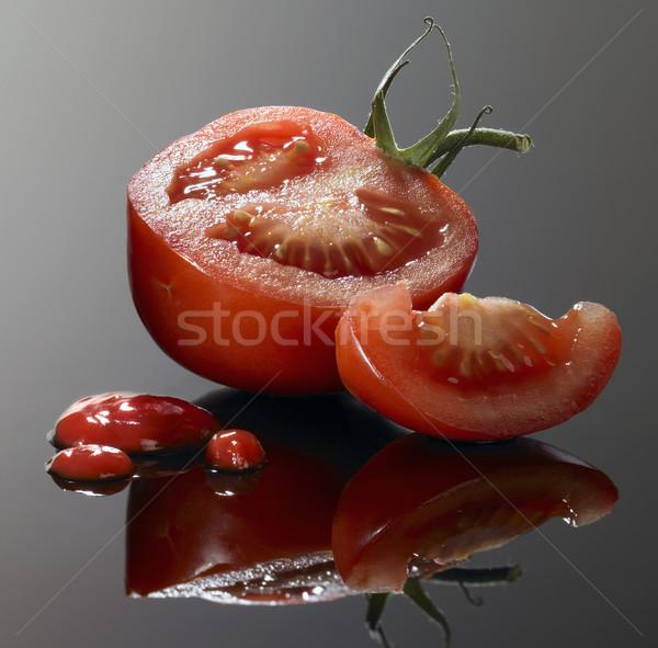 томатный Cut кетчуп свежие Сток-фото © prill