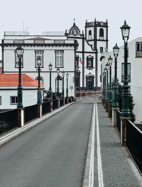 street scenery at Ponta Delgada Stock photo © prill